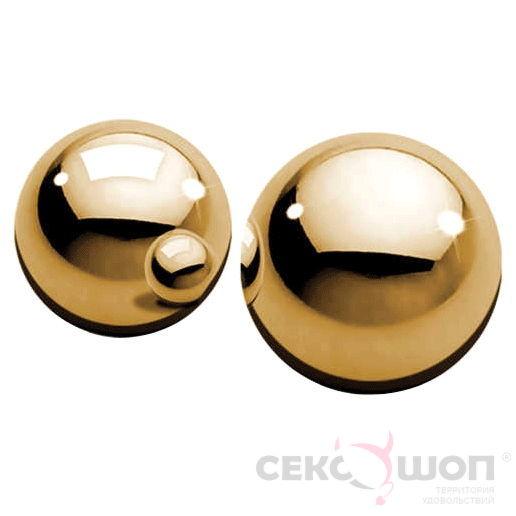 Металлические вагинальные шарики Ben-Wa Balls (золото). Вид 1.