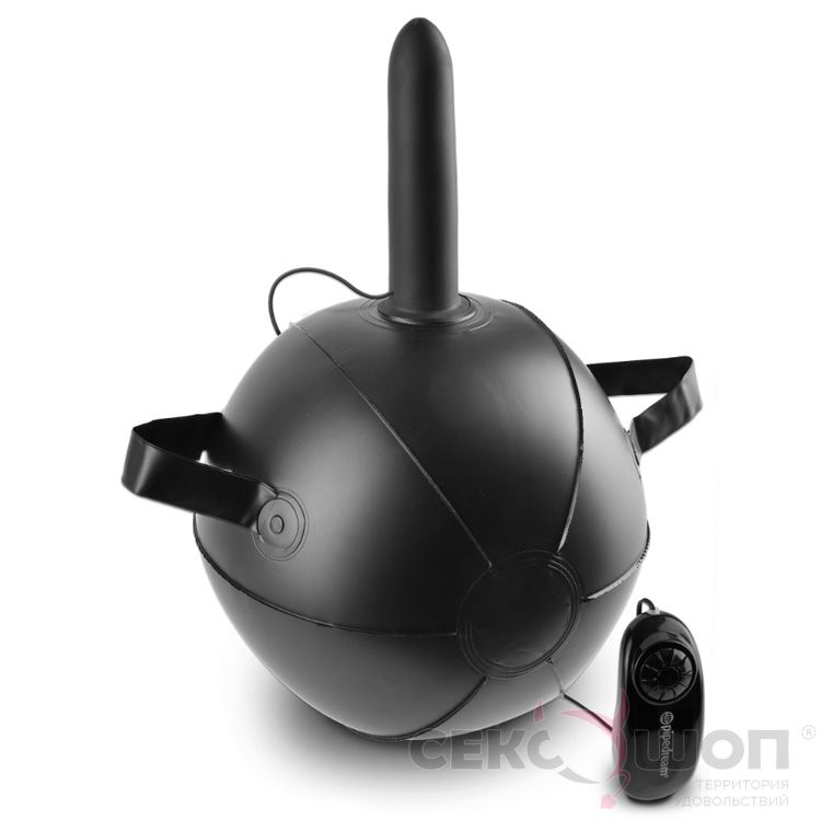 Мяч с насадкой-фаллоимитатором Vibrating Mini Sex Ball. Вид 2.