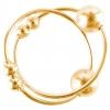 Золотистые клипсы на грудь с шариком Gold Nipple Bull Rings. Вид 2.