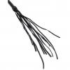 Чёрная кожаная плетка Cat-O-Nine Tails (46 см). Вид 3.