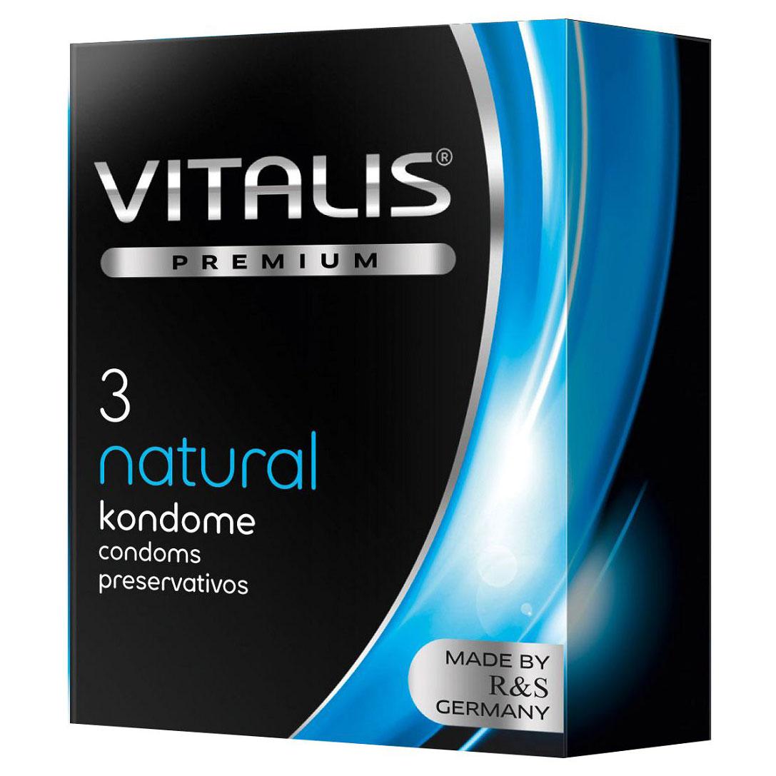 Классические презервативы VITALIS PREMIUM natural (3 шт.). Вид 1.