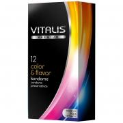 Цветные презервативы с ароматом VITALIS PREMIUM (12 шт.)