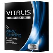 Кондомы VITALIS PREMIUM с охлаждающим эффектом (3 шт.)