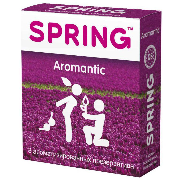 Ароматизированные презервативы SPRING AROMANTIC (3 шт.). Вид 1.