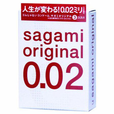Ультратонкие презервативы Sagami Original (3 шт.). Вид 1.