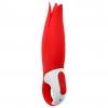 Вибратор Satisfyer Vibes Power Flower с лепестками (красный). Вид 1.