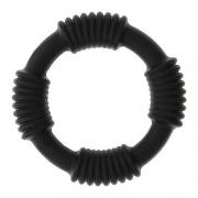 Чёрное эрекционное кольцо PLAY CANDI COTTON POP BLACK