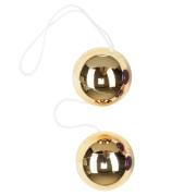 Золотые вагинальные шарики Vibratone Duo Balls
