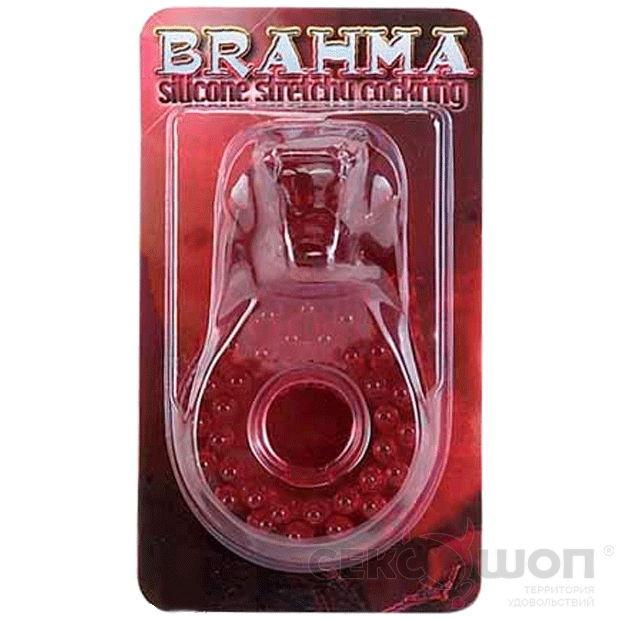 Эрекционное кольцо толстое прозрачное BRAHMA WHITE. Вид 2.