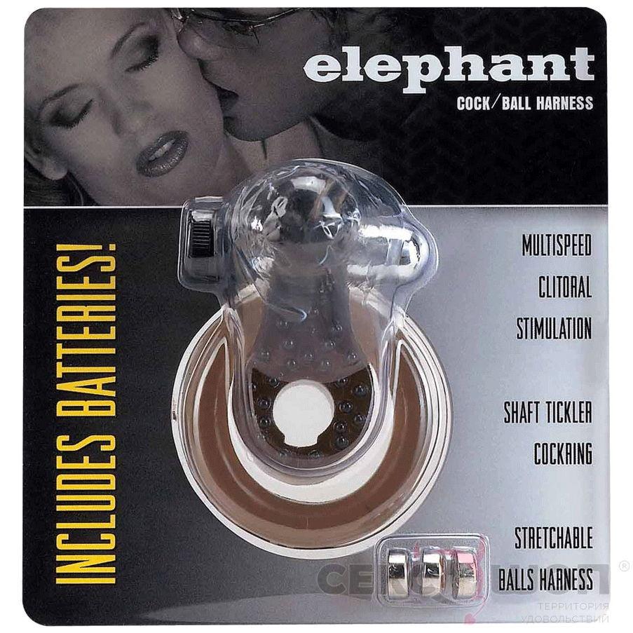 Эрекционное кольцо «слоник» с вибрацией ELEPHANT COCK. Вид 2.