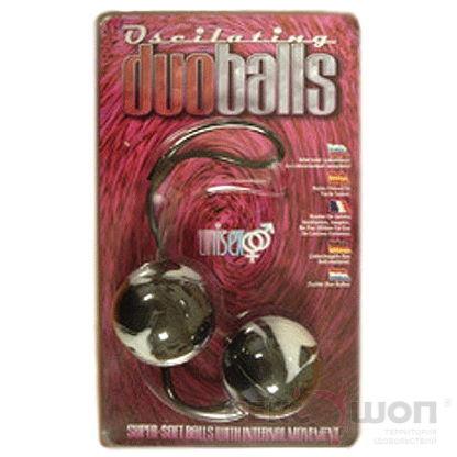 Вагинальные шарики Duo Balls (черные). Вид 2.