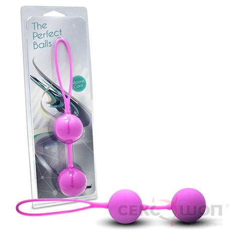 Вагинальные шарики The Perfect Balls (фиолетовые). Вид 2.