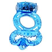 Эрекционное кольцо с вибрацией и подхватом мошонки Sex Sewer