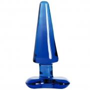 Синяя стеклянная анальная пробка