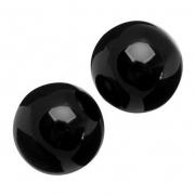 Чёрные вагинальные шарики из стекла Sexus Glass