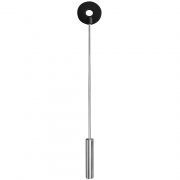 Чёрная шлёпалка Leather Circle Tiped Crop с наконечником - кругом (56 см)