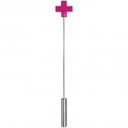 Розовая шлёпалка Leather  Cross Tiped Crop (56 см)