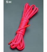 Красная шелковистая веревка для связывания (5 м)