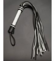 Чёрно-белая многохвостая плеть (65 см)