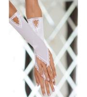 Перчатки с петелькой на пальчик (белые)
