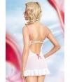 Сорочка Lizzy с бантиками и трусиками-стрингами (L, белая). Вид 2.