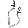 Чёрные зажимы на соски Nipple clamps с цепочкой. Вид 1.