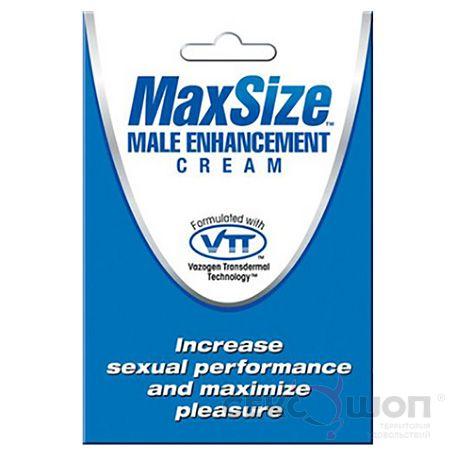 Крем для эрекции пениса MaxSize Male Enhancement Cream (4 мл). Вид 1.
