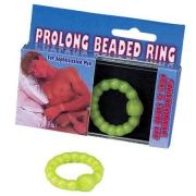 Салатовое эрекционное кольцо с бусинами