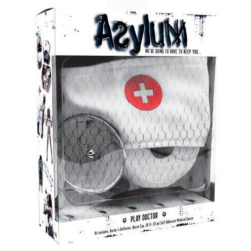 Набор доктора Asylum: шапочка, отражатель и эластичная фиксация. Вид 1.