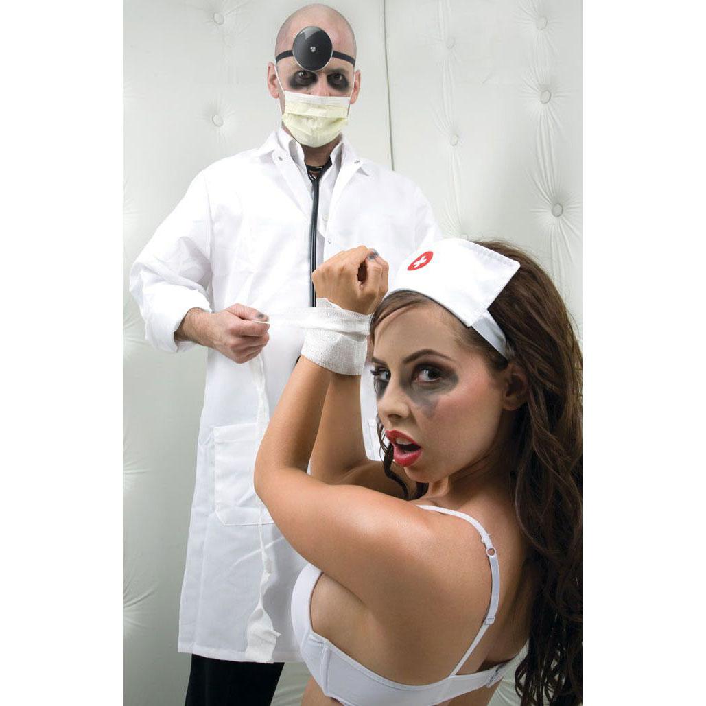 Набор доктора Asylum: шапочка, отражатель и эластичная фиксация. Вид 5.