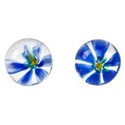 Вагинальные шарики TLC CyberGlass Ben Wa Balls Blue Blossom