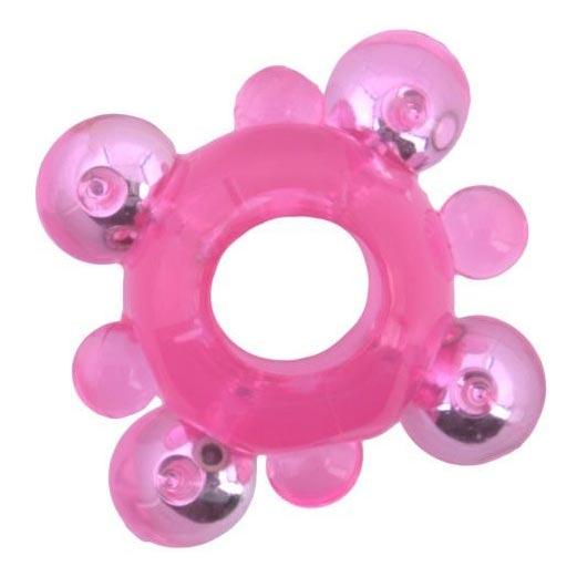 Классическое эрекционное кольцо c бусинками. Вид 1.