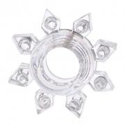 Прозрачное гелевое эрекционное кольцо звезда