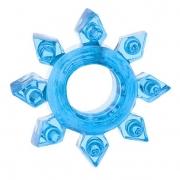 Эрекционное кольцо в виде звезды (голубое)