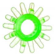 Эрекционное кольцо с шипами (зеленое)