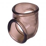 Необычное эрекционное кольцо с фиксацией мошонки