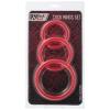 Набор из красных эрекционных колец различного диаметра. Вид 2.
